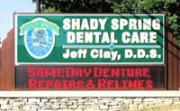 Dr Jeff Clay's Dental Signage
