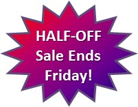 Half off sale ends Friday!