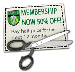 Join TWDU for half off