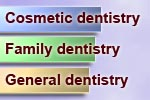 Dental marketing keywords include cosmetic, family and general dentistry