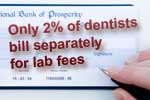 Dentists include lab fee in total fee for service
