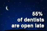Dentist schedules: 55% are open late